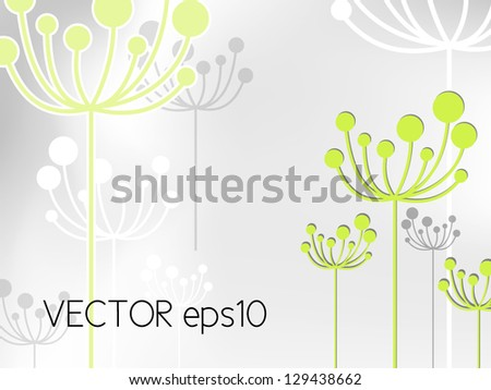 Abstract dandelion flower background - stock vector
