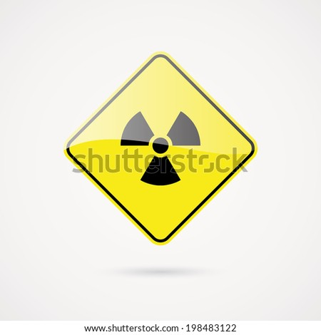 abstract danger signal on a white background
