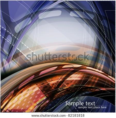 Abstract dark background with lighting effect. Vector - stock vector