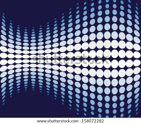 Abstract dark blue background with a moving pattern - stock vector
