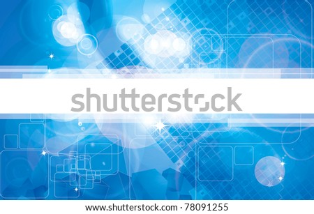 Abstract dark blue technical background - stock vector