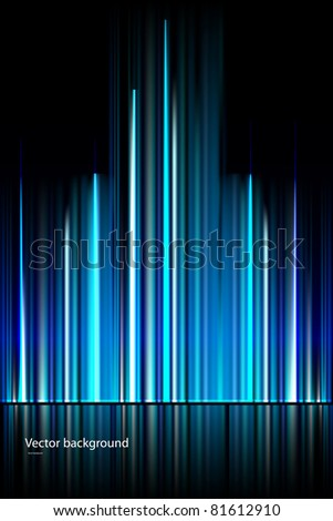 abstract dark blue vector background - stock vector