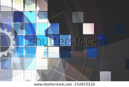 abstract dark grey gear vector computer internet technology background - stock vector
