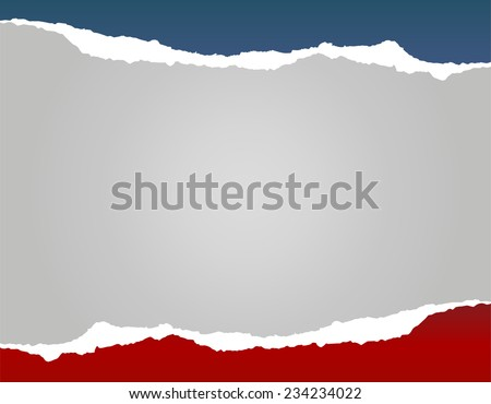 Abstract dark red, grey and blue vector paper background - stock vector