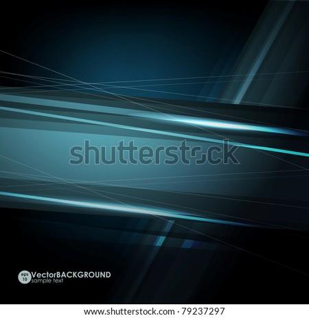 Abstract dark shape design concept. Vector illustration - stock vector