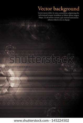 Abstract dark technology background. Vector design eps 10 - stock vector