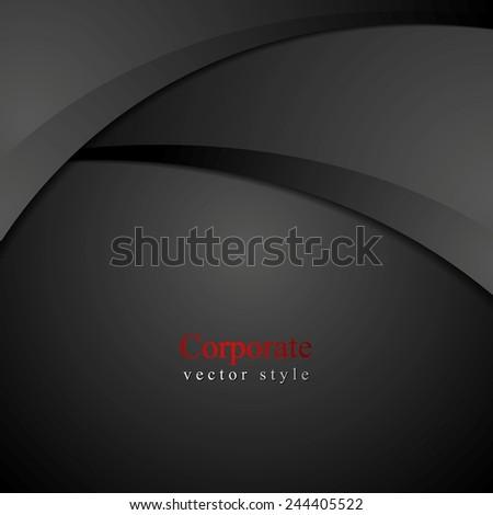 Abstract dark waves background. Vector design - stock vector