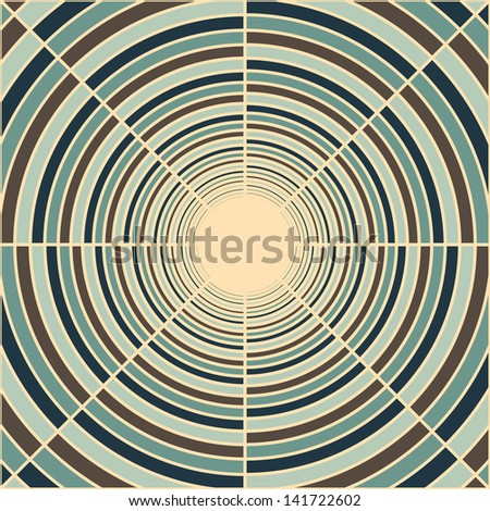 Abstract deep tube, light at end of tunnel, abstract vector background - stock vector