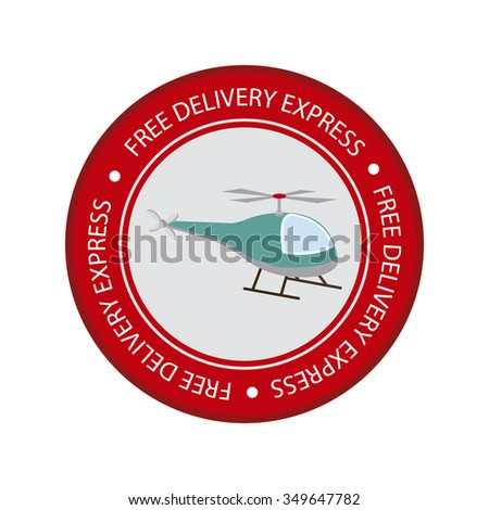 Abstract delivery object on a white background