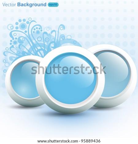 Abstract design background, vector - stock vector