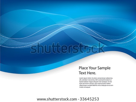 Abstract design Blue background - stock vector