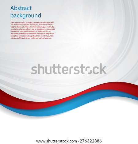 Abstract design bright background red blue - stock vector
