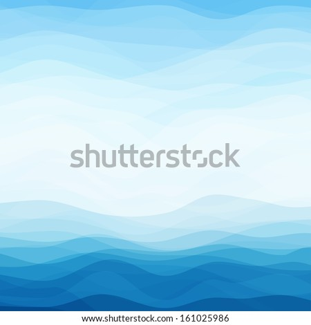 Abstract Design Creativity Background of Blue Waves, Vector Illustration EPS10 - stock vector