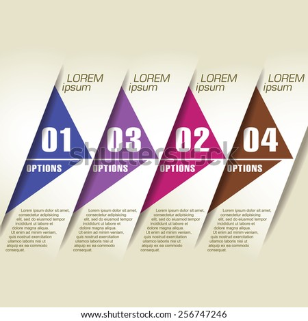 Abstract design element template - stock vector