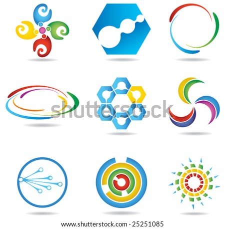 Abstract design elements - stock vector