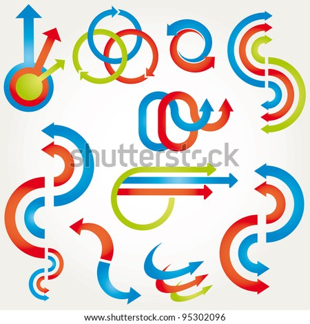 Abstract design elements. Vector illustration. - stock vector