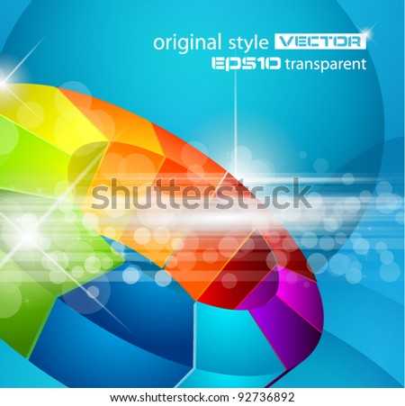 Abstract Design for futuristic poster or business science flyer. - stock vector