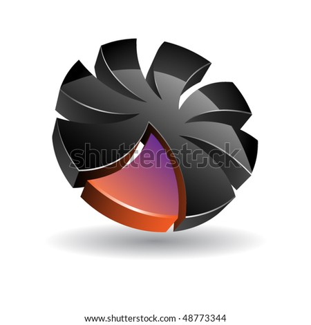 Abstract design icons set. Vector illustration - stock vector