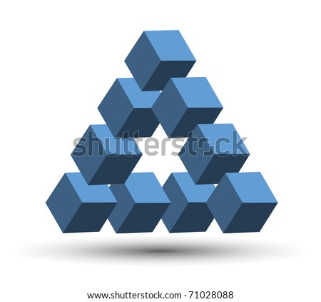 Abstract design, impossible object. Vector illustration. - stock vector