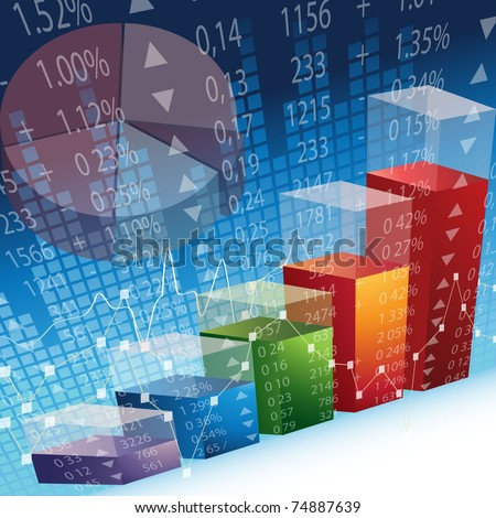 Abstract Design inspired by Stock Market Exchange - EPS 10 - stock vector
