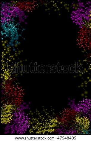 Abstract design isolated on black - stock vector