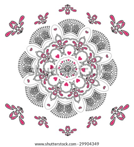 Abstract design mandala - stock vector