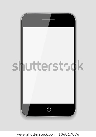 Abstract Design Mobile Phone. Vector Illustration - stock vector