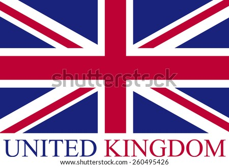 Abstract design of United Kingdom (Great Britain) flag - stock vector