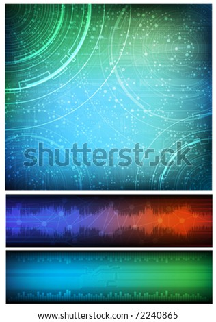 stock vector abstract design technology theme vector background and two horizontal banners eps 72240865 911ep cid wiring diagram wiring diagram images 911ep wiring diagram at n-0.co