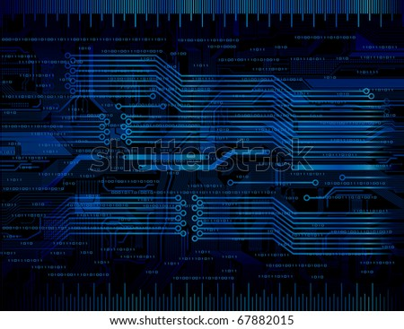 Abstract design technology theme vector background. Eps10 - stock vector