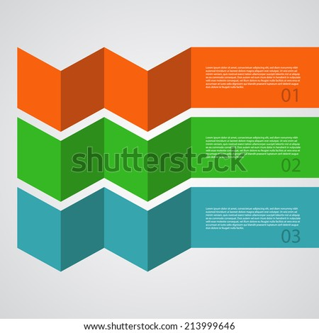 Abstract Design Template / procedure steps / tutorial banners. - stock vector