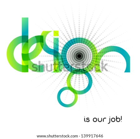 abstract design, typographic illustration - stock vector