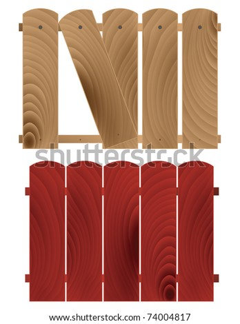 Abstract detailed wooden textured fences