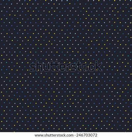 Abstract diagonal contrast pattern. Regular dot grid backdrop. Yellow blue spots. Seamless vector background. For wallpaper, webpage background, surface textures. For decoration or printing on fabric. - stock vector