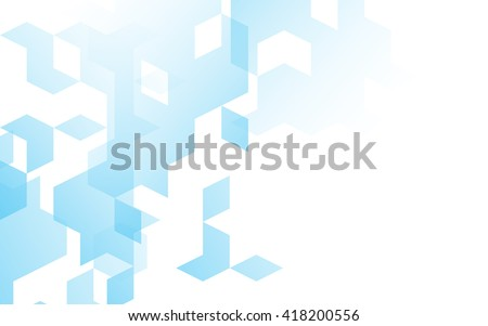 Abstract diamond square box background blue color with copy space - stock vector