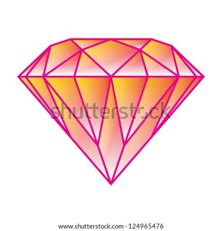 Abstract diamond vector - stock vector
