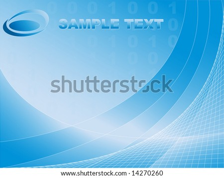 abstract digital background with curves and binary code