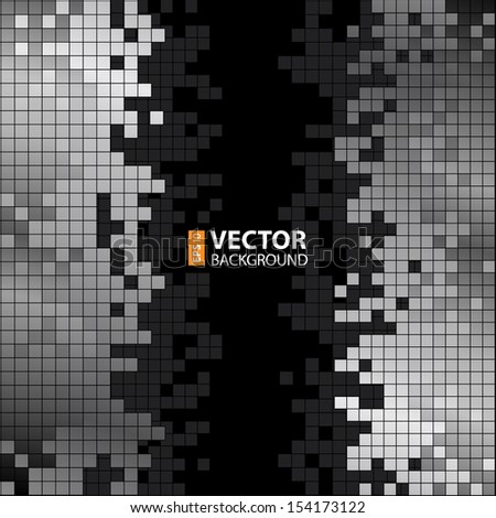 Abstract digital background with grey pixels equalizer. RGB EPS 10 vector illustration - stock vector