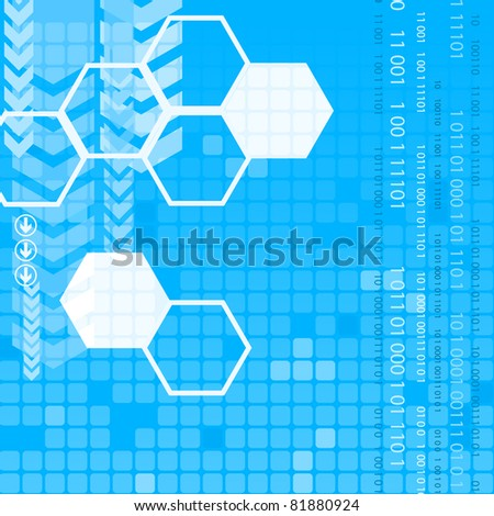Abstract digital blue background with arrows - stock vector