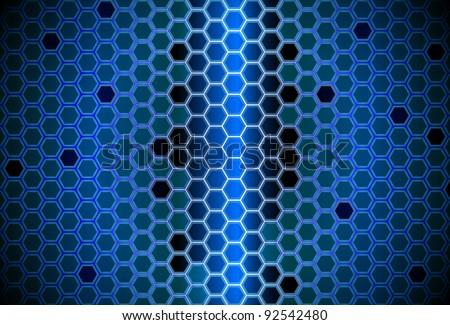 Abstract digital hive - stock vector