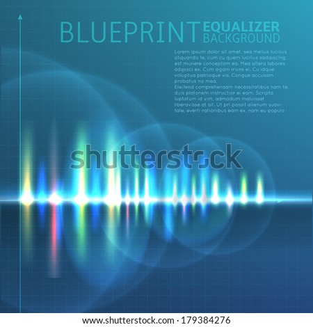 abstract digital sound wave background - stock vector