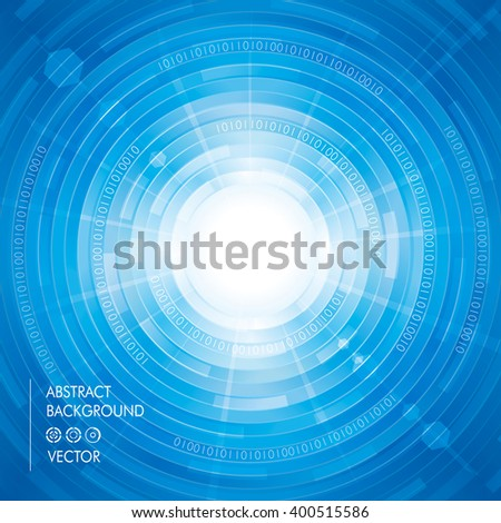 Abstract digitally technology blue background. - stock vector
