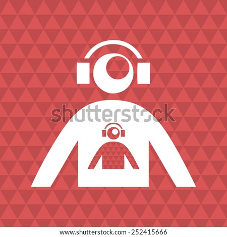 abstract disc jockey silhouette. vector illustration - stock vector