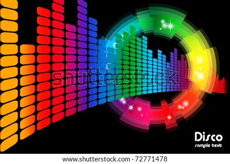 abstract disco colored background - stock vector