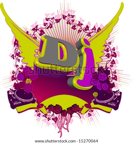 Abstract DJ Splash. Music background. For Flayer. - stock vector