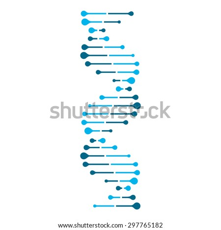 Abstract DNA strand symbol. Isolated on white background. Vector illustration, eps 8. - stock vector