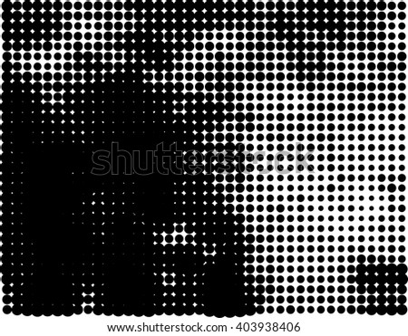Abstract dot based halftone grunge background pattern - stock vector