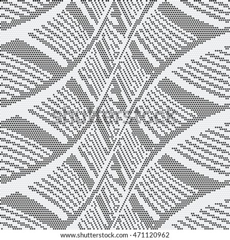 Abstract dot textured subtle basket weave geometric motif. Seamless pattern.