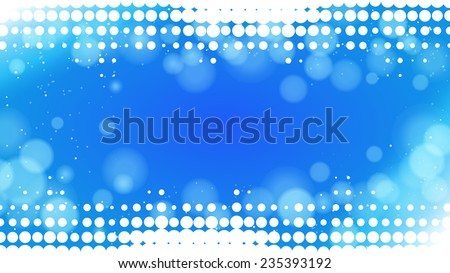 abstract dots blue background - stock vector