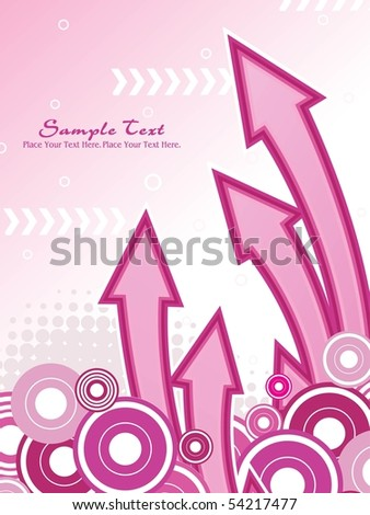 abstract dotted background with pink arrowhead, circle